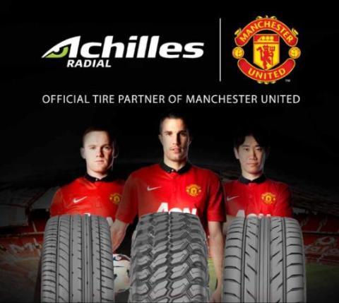 Ban Achilles Corsa Sponsor Manchester United MU
