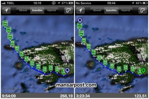 Peta Transportasi Waisai - Wayag