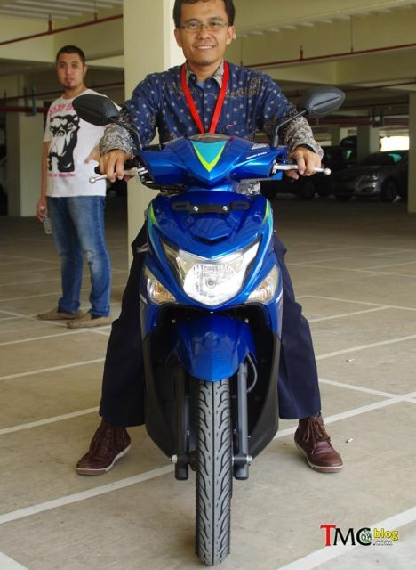 Ergonomi Riding Honda Beat PoP - Depan