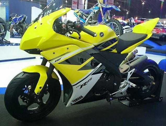 galeri modifikasi motor  warna kuning hitam ala