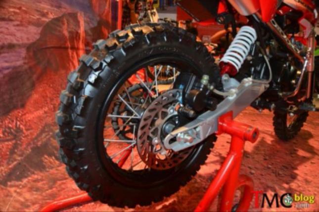galeri detil viar cross x100 mini moto trail 100cc untuk pemula daouble disk cakram belakang