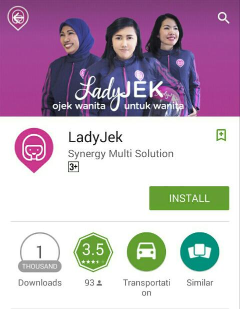 Download aplikasi Lady Jek - Android