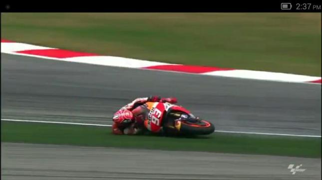 Marques jatuh di MotoGP seri Sepang Malaysia 2015 - 25 Oktober 2015