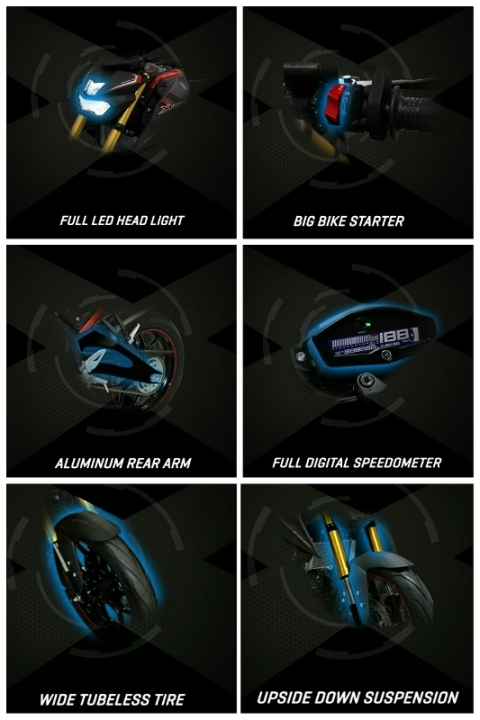 fitur features lengkap yamaha xabre m slaz m slash mt 15 indonesia led headlamp suspensi usd arm banana velg lebar