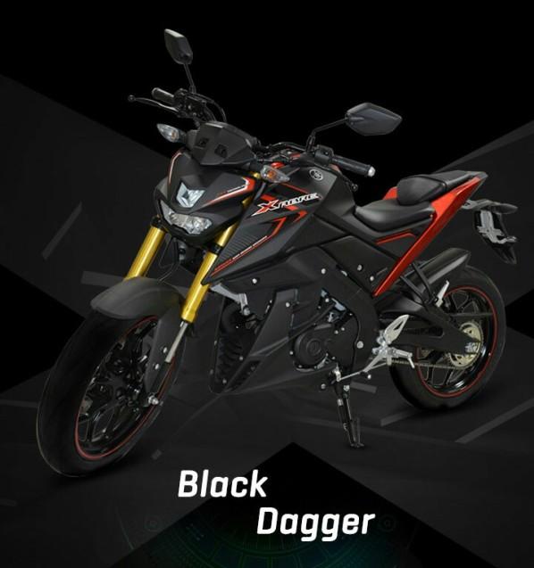 pilihan warna yamaha xabre kaliber 150 m slaz m slash mt 15 indonesia gambar foto studio hitam merah black garang