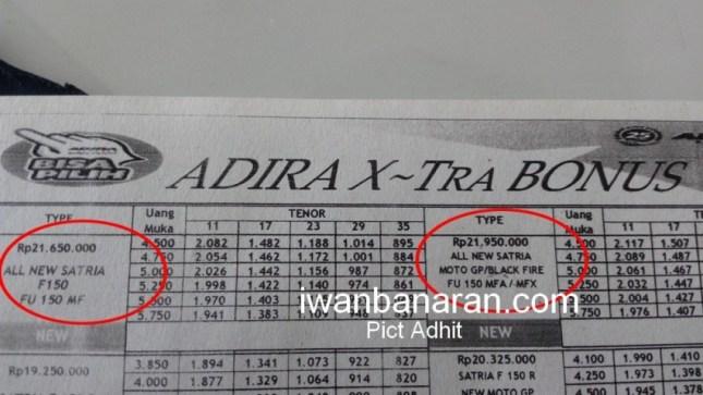 Bocoran harga jual fix all new suzuki satria f 150 facelift injeksi februari 2016 21 jutaan 22 jutaan iwb