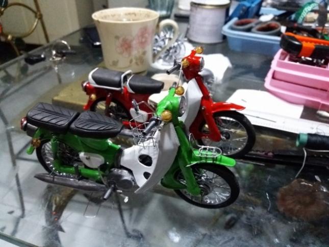 miniatur motor Honda astrea c 70 c 90 handmade salatiga jawa tengah indonesia murah otor mini