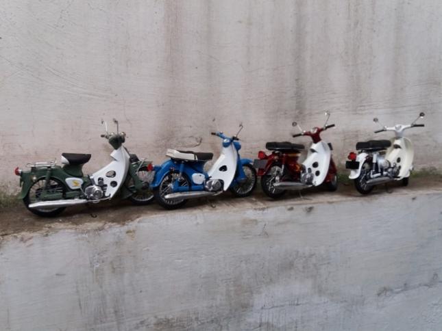 miniatur motor Honda astrea c 70 c 90 handmade salatiga jawa tengah indonesia murah